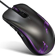 Rpanle Mouse Gaming, Gioco/Lavoro Wired USB Mouse, 7 Pulsanti, Mouse 3DPI(3200 DPI / 2400 DPI / 1600 DPI), Disegno ergonom...