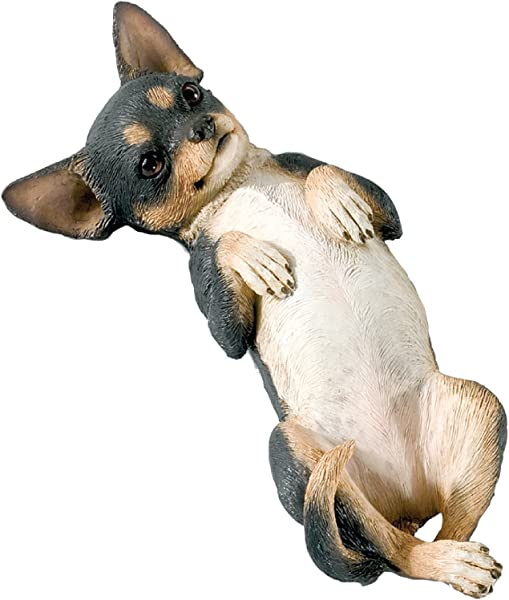 Sandicast Small Size Tri Chihuahua Sculpture Lying Back