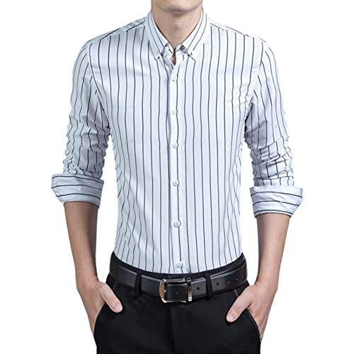 classic styles large assortment most desirable fashion Men's Striped Dress Shirt: Amazon.com