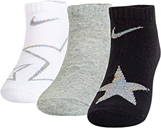 Nike Kids' 3 Pack Graphic Lightweight No-Show Socks