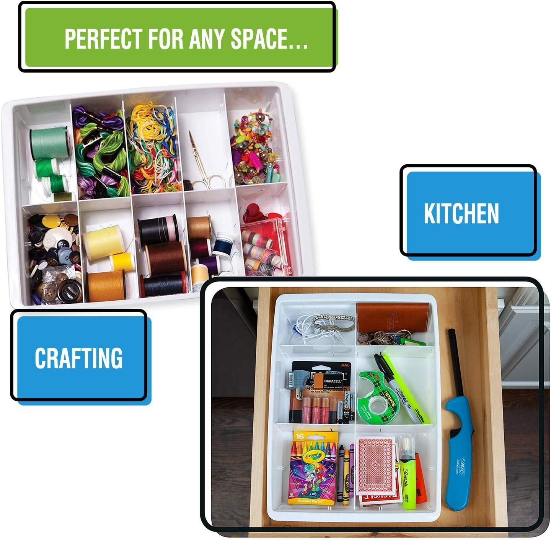 3 Pack Uncluttered Designs Adjustable Drawer Dividers For Utility Drawer Kitchen Storage And Organization