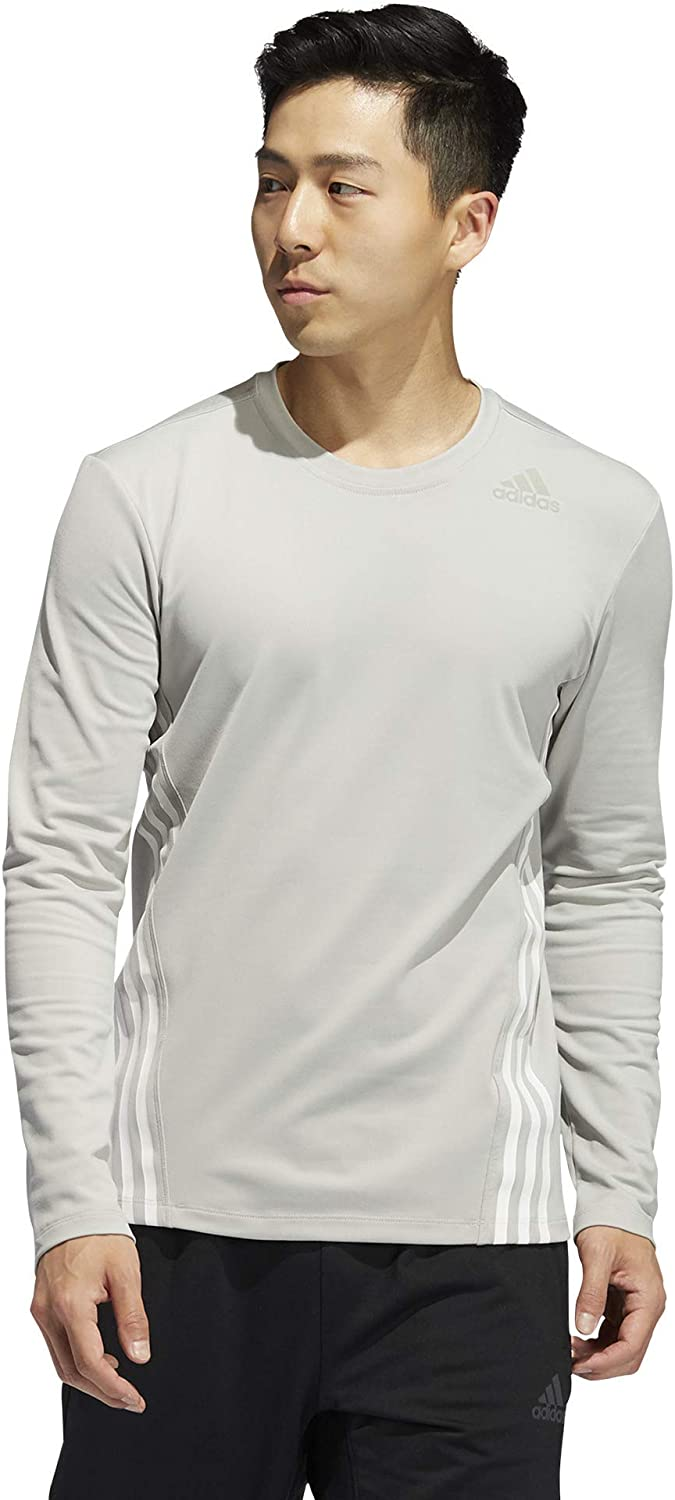adidas Men's Aeroready 3-Stripes Cold Sleeve excellence Weather Tee Excellent Long