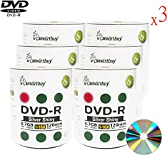 Smart Buy 1800 Pack DVD-r 4.7gb 16x Shiny Silver Blank Data Video Movie Recordable Media Disc, 1800 Disc 1800pk