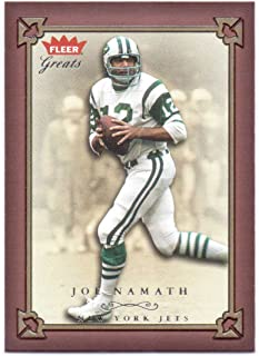 Joe Namath 2004 Fleer Greats of the Game #5 - New York Jets
