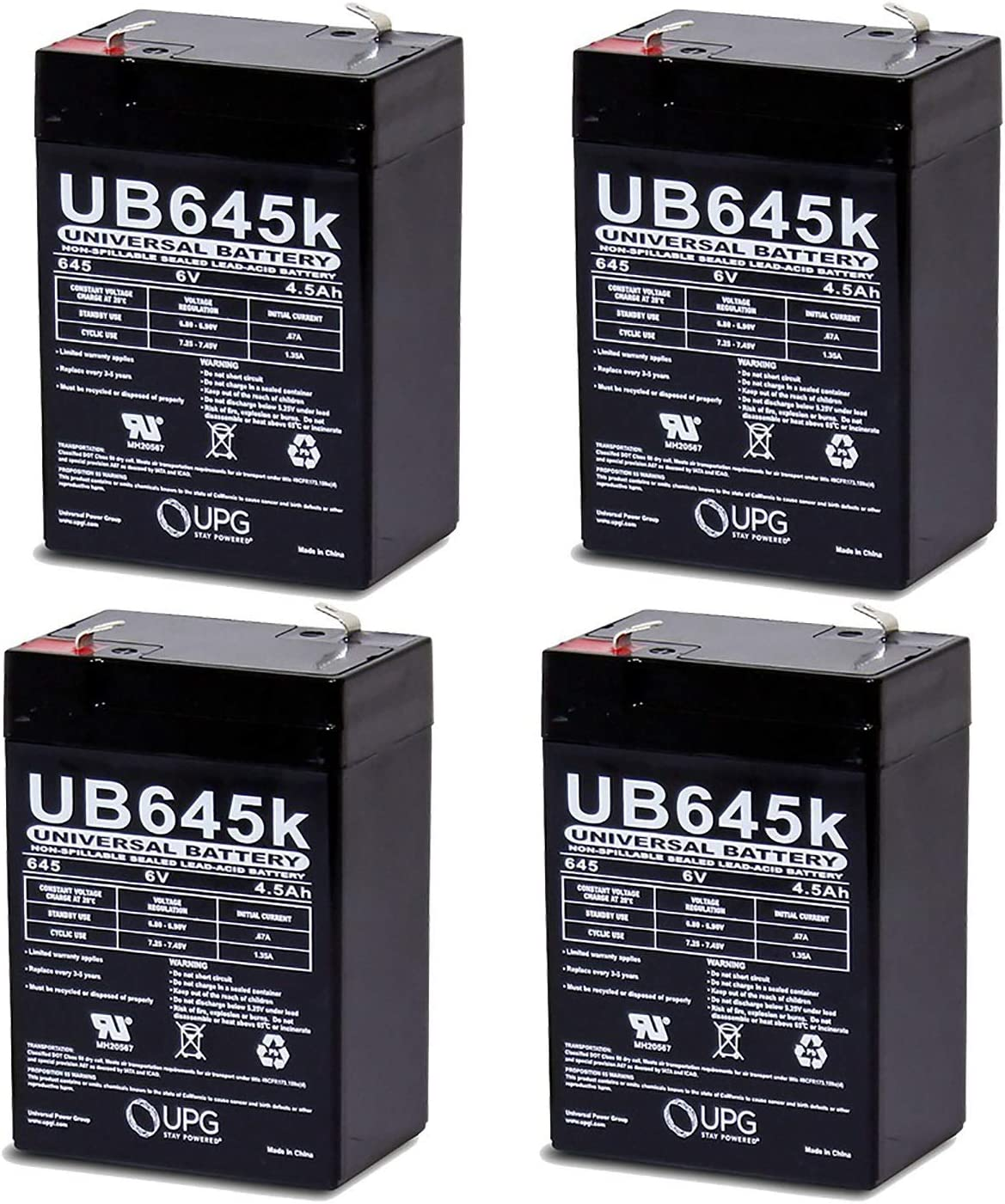 Universal Power Group 6V 5% OFF OFFicial site 4.5AH SLA Battery Replacement Litho for