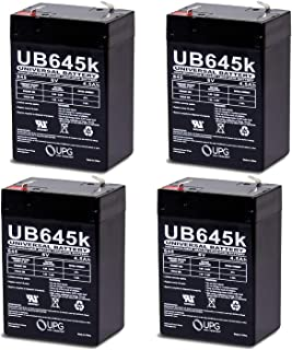 Universal Power Group 6V 4.5AH Replacement for GS Rechargeable Lead-Acid Battery PE6V4.5-4 Pack