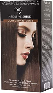 ION Intensive Shine Permanent Liqui-Creme Hair Color Kit Fade Resistant Gray Coverage 2.5 Times More Shine Brilliant Long Lasting Color - Light Bronze 8NWB