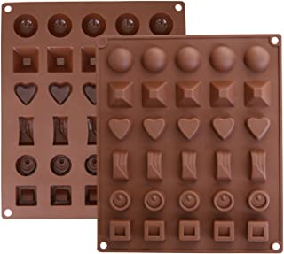 Inditradition Silicone 6 Designs Chocolate Candy and Ice Mould, 30 Slots, Brown, Standard Size - 1 Piece