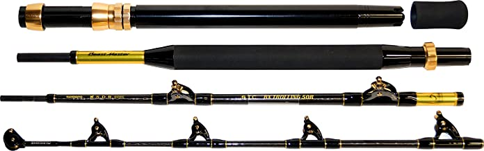 SHIMANO Beastmaster BX STC Trolling 50lbs, 2,13m, 7ft, 4 Section, Boat Rod, Travel Rod with Roller Guides