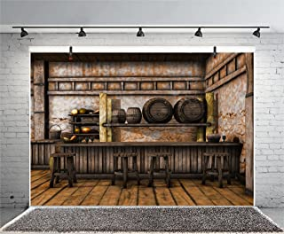 Leyiyi 8x6ft Photography Background Vintage Cottage Backdrop Warship Wooden Furniture Shelf Vegatable Dinning Hall Grunge Canteen Cook Food Western Town Cowboy Photo Portrait Vinyl Studio Video Prop