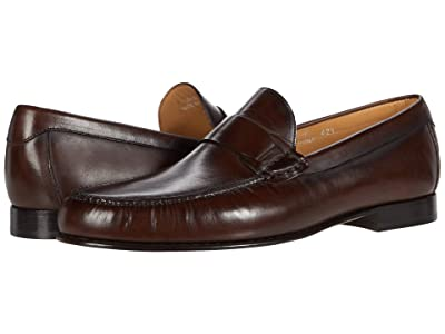 Canali Shaded Calfskin Loafer (Tobacco) Men