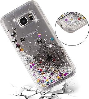 de9330ca5cd ChoosEU Silicona Glitter para Funda Samsung Galaxy S7 Edge Transparente  Dibujos Brillante Unicornio Bonita Carcasas Liquido