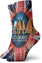 DonaldKAlford Def Leppard The Definitive Collection Music,Band Theme,Casual Short Socks,Breathable,Fashion,Socks