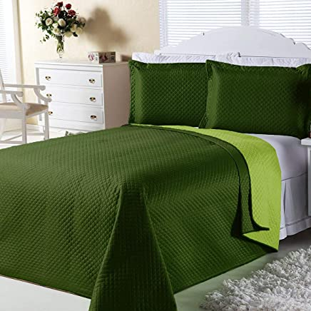 de208b6c59 Kit Combo Cobre Leito + Jogo de Banho Dual Color Verde Solteiro 07 Peças