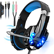 Noise Cancelling Stereo Gaming Headset Over Ear Headphones for PS4 PC Xbox One Controller Mobile Phone Laptop Mac Nintendo...