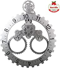SevenUp Large Silver Wall Clock Silent, 26