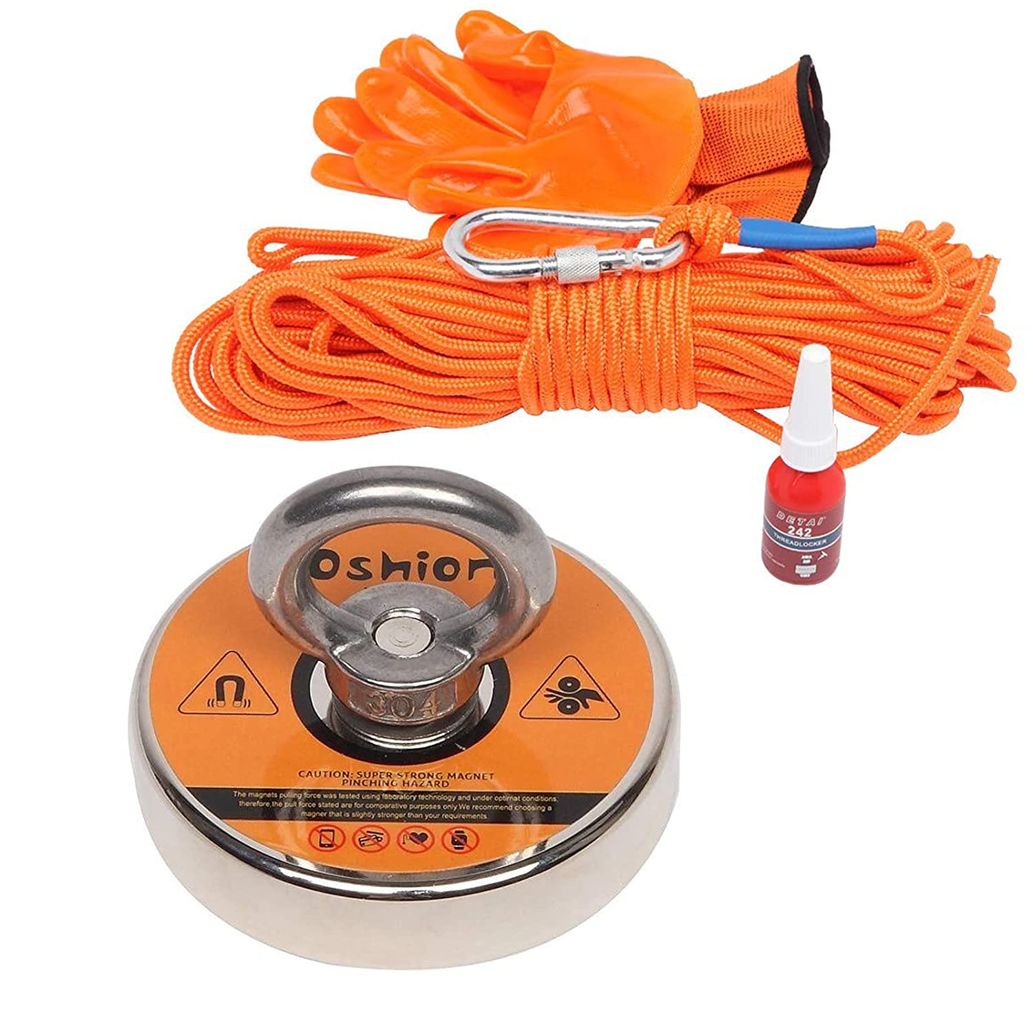Magnet Fishing Kit with Rope, Fishing Magnets 500 lbs Pulling Fo