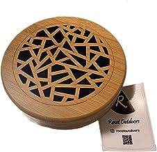 Roost Outdoors 蚊取り線香ホルダー 入れ オリジナルステッカー付 蚊遣り 木製 おしゃれ