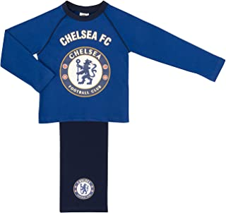 Official Football Merch Chelsea FC Boys Pyjama Set Sizes 4 to 12 Years