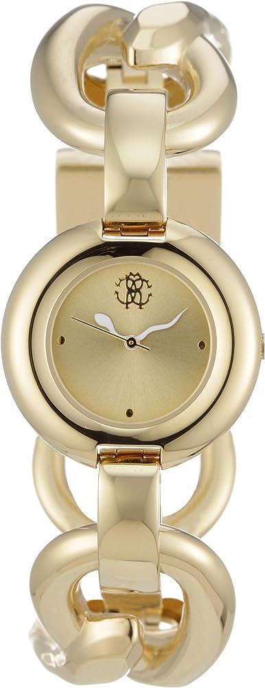 Roberto cavalli `axelis`,orologio per donna,bracciale in acciaio dorato R7253131517