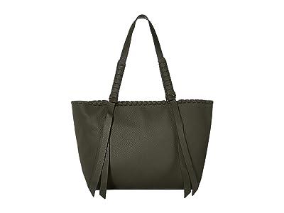 AllSaints Kepi Small East/West Tote (Khaki Green) Handbags