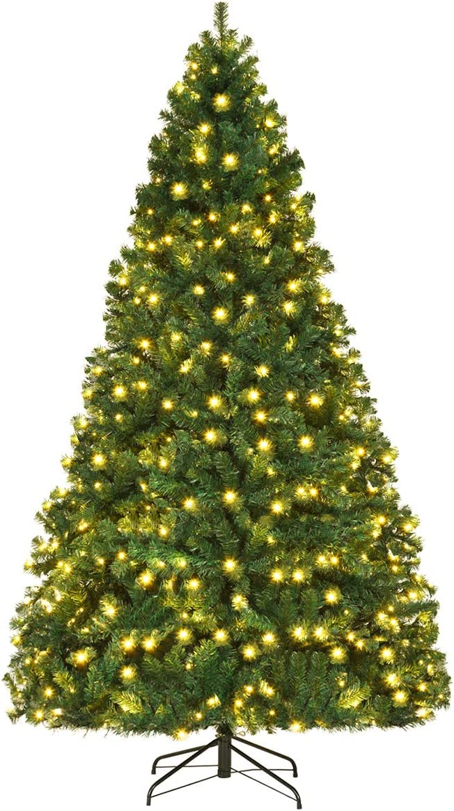Easy-to-use Goplus 8FT Pre-Lit New products, world's highest quality popular! Artificial Christmas Tree Spr Premium Hinged