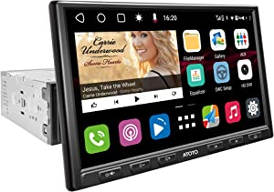 [Single-DIN/8inch Floating IPS Display] ATOTO S8 Gen2 in-Dash Video Receiver,Standard/S8G1A84SD,USB Tethering,Dual Bluetooth,Octa-Core CPU,Android Auto & CarPlay,HD Rearview with LRV,SCVC and More