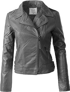 Best leather jacket women grey Reviews