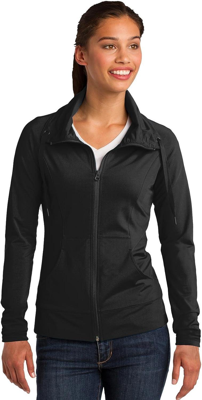 Sport Tek Max 84% OFF Ladies Sport-Wick Full-Zip Quantity limited LST852 Jacket. Stretch