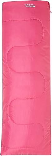 Mountain Warehouse Saco de Dormir Basecamp para Acampar tamaño Mini - 160 x 65 cm, Saco de Acampada de Cuidado fácil ...