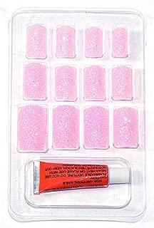 BONJOUR PARIS False Nails - Quick Stick Artificial Nail Set with Glue, 12 pc Set (Pearly Baby Pink)