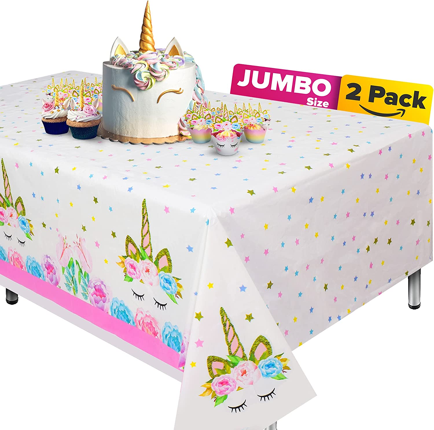 Extra-Large 2 Packs Unicorn Cloth for Tablecloth Regular New sales store Table