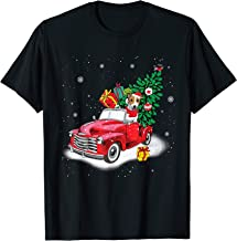 Jack Russell Rides Red Truck Christmas Tree Xmas Gifts T-Shirt