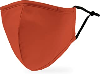 Weddingstar 3-Ply Adult Washable Cloth Face Mask Reusable and Adjustable with Filter Pocket - Rustic Orange
