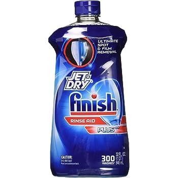 Finish Jet-Dry Plus Dishwasher Rinse Aid 32 Fl Oz
