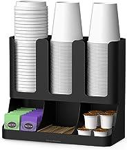 مايند ريدر 6 مقصورات لتخزين القهوة والبهارات وتنظيم الاكواب، لغرفة الاستراحة، منظم اكواب، اسود