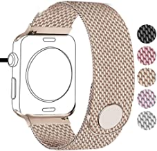 Compatible for Apple Watch Band 38mm 40mm 42mm 44mm, Stainless Steel Mesh Wristband Magnetic Loop Magnet Band Compatible with Iwatch Series 5/4/3/2/1 (Rose Gold, 38mm/40mm)
