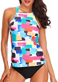 Best Women Tankini Swimsuits High Neck Halter Tummy Control Two Piece Bathing Suits Review