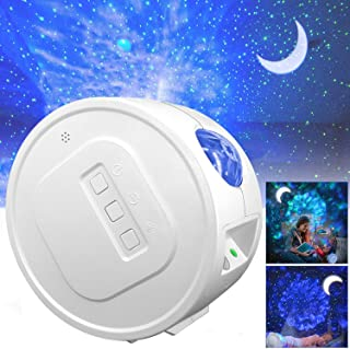 Star Projector, Ganeed Starry Sky Projector,3 in 1 Ocean Wave Laser Projector w/LED Nebula Cloud& Moon, Galaxy Timer Night...