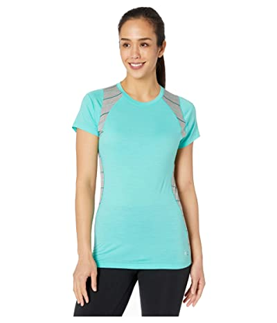 Smartwool Merino 150 Base Layer Color Block Short Sleeve (Oasis) Women