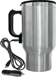 Brentwood CMB-16C Travel Mug 12 Volt Heated, 16 oz, Stainless Steel