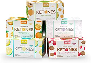 MCM Nutrition Ketones Variety Pack – Caffeine Free Exogenous Ketones, Drink Mix Packets (5 Boxes - 100 Keto Packets) - Instant Keto Mix as a Ketones Supplement for Ketosis - Ketone Drink for Ketosis
