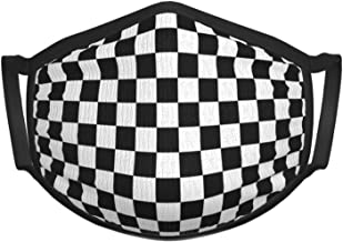 Black White Checkered Checker Kids Face Mask Reusable - Breathable Comfort, Mouth Mask, Machine Washable, Face Masks for C...
