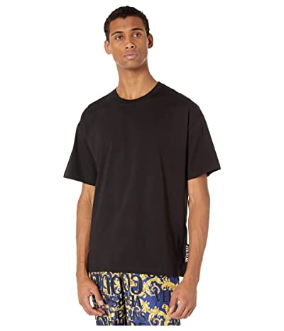 Versace Jeans Couture Macro Logo Over Fit T-Shirt (Black) Men