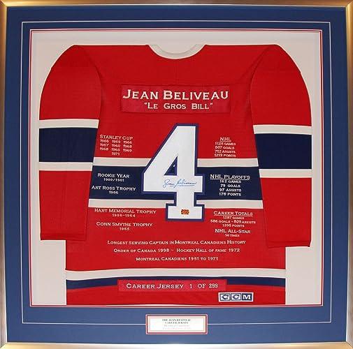 Generic Jean Beliveau voiturerière Jersey   1de 299 autographe des Canadiens de Montréal