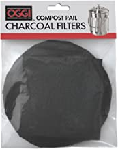 Oggi Replacement Charcoal Filters for Compost Pails # 7320, 5427, 5448 and 7700, Set of 2