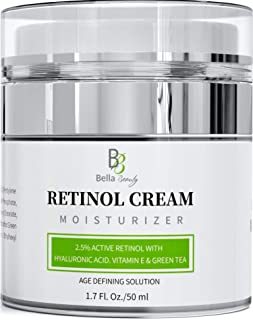 Retinol Moisturizer Anti Aging Cream for Face and Eye Area - With Hyaluronic Acid - 2.5% Active Retinol - Vitamin E - Redu...