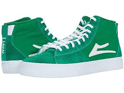 Lakai Newport Hi (Green Suede) Men