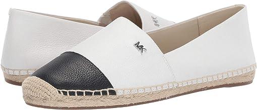 Optic White/Black Tumbled Leather