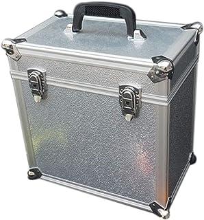 Soporte de Disco de Vinilo de aleación de Aluminio, Caja de Herramientas doméstica de Caja de Metal LP portátil de 12 Pulg...